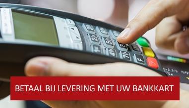 Betaal bij levering met uw bankkaart (Bancontact)